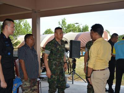 หน่วยทหารใช้สถานที่ กิจกรรมพบปะประชาชน