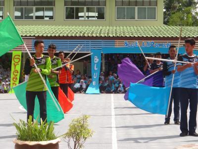 เปิดกีฬาสีภายในโรงเรียนฮาซานียะห์